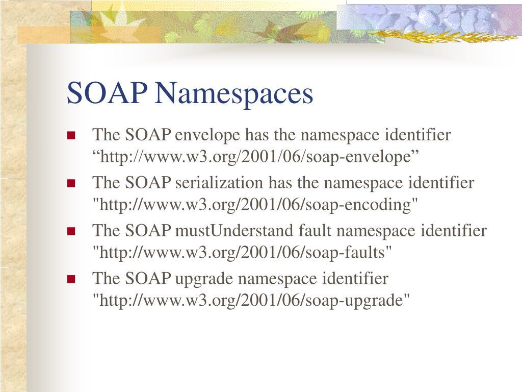 SOAP Namespaces