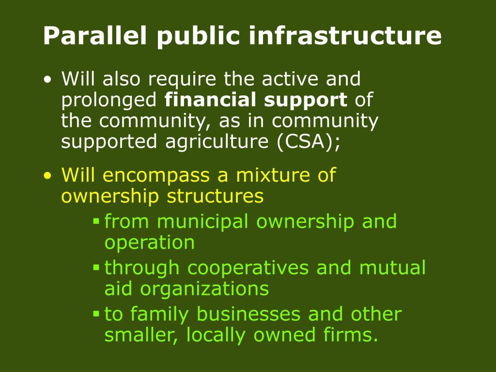 Parallel public infrastructure