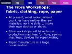 the fibre workshops fabric clothing rope paper