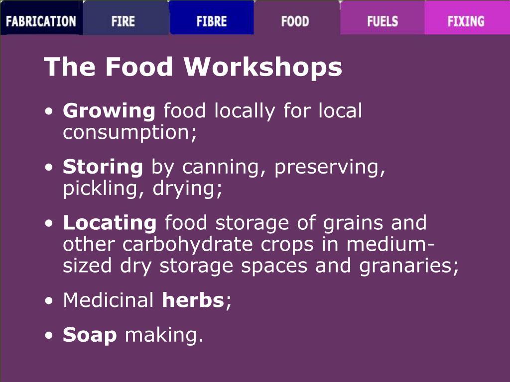 The Food Workshops