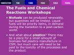 the fuels and chemical reactions workshops58