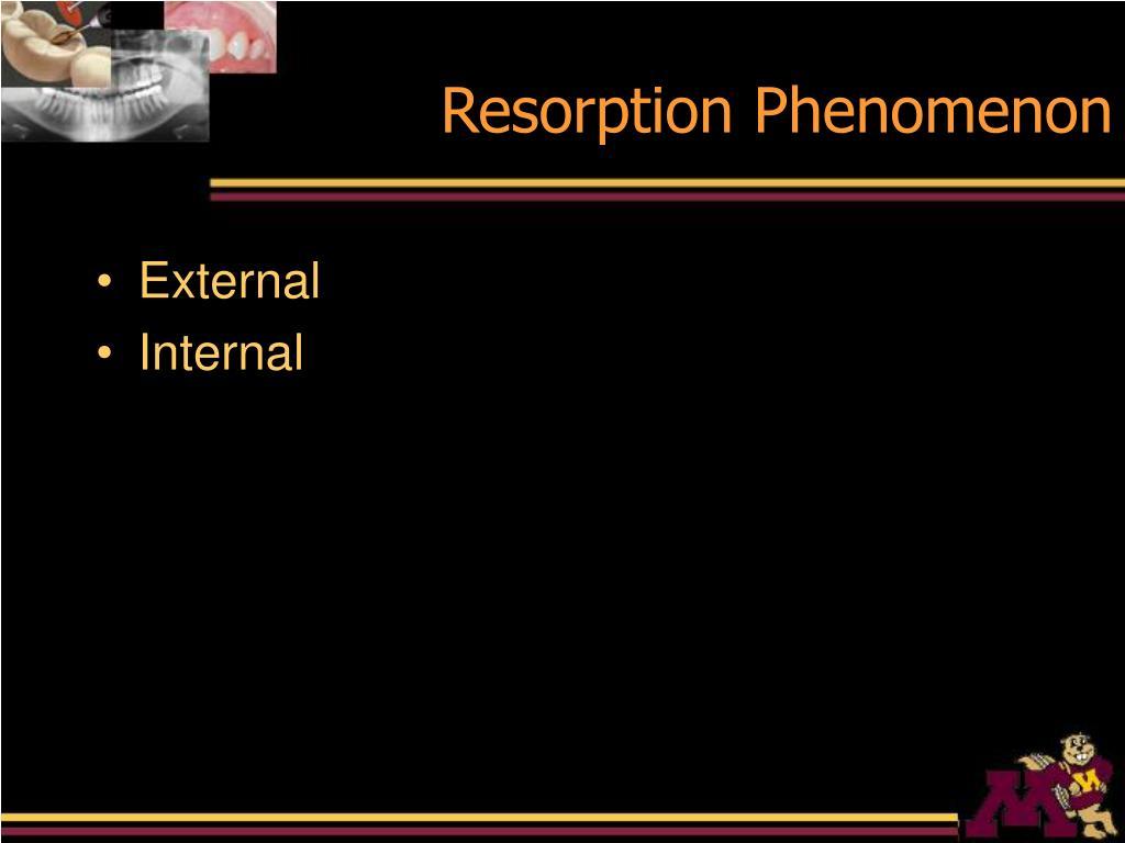 Resorption Phenomenon