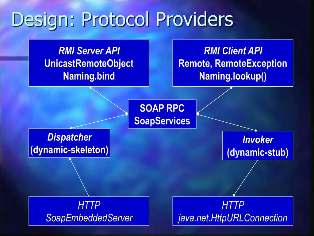 Design: Protocol Providers