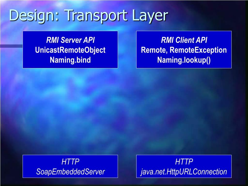 Design: Transport Layer