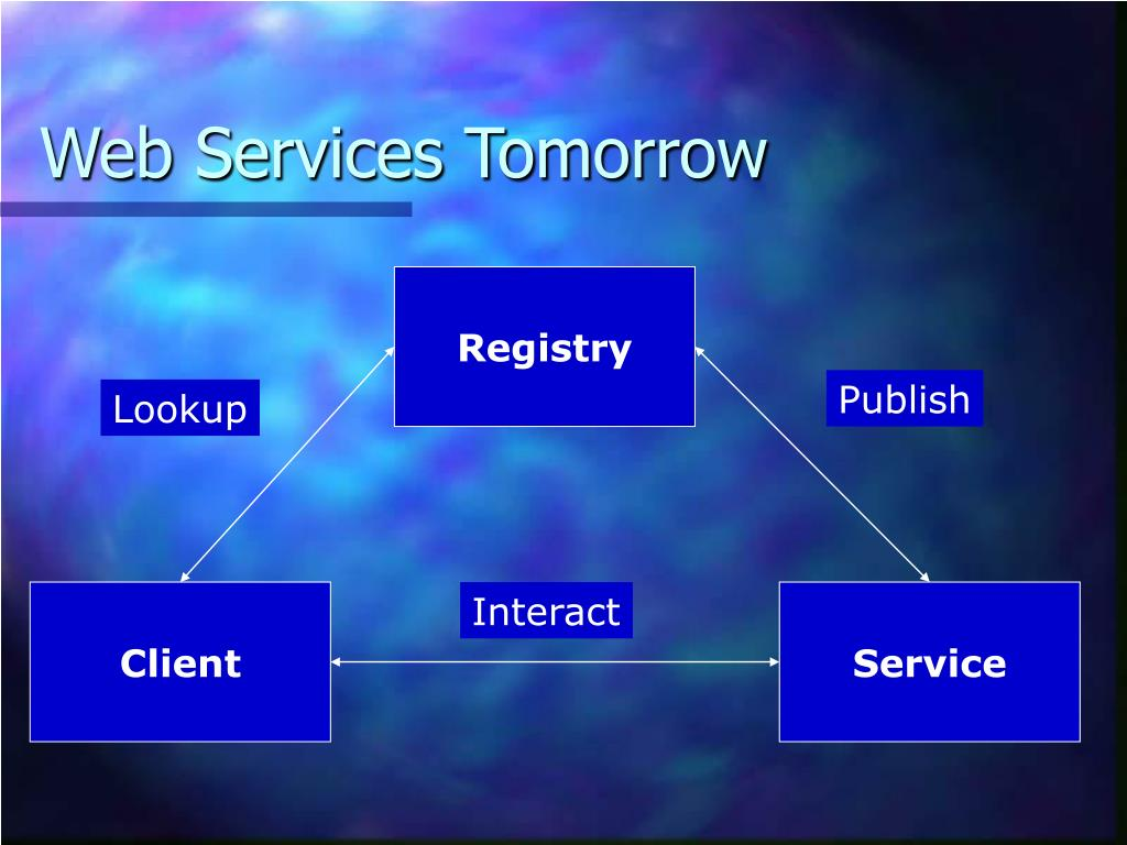 Web Services Tomorrow