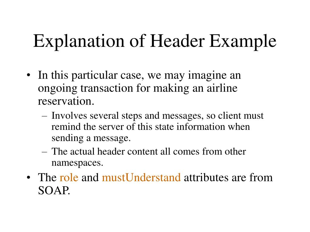 Explanation of Header Example