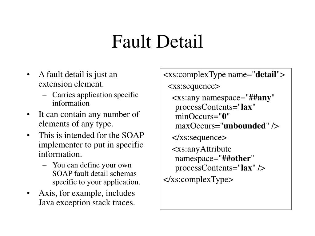 A fault detail is just an extension element.