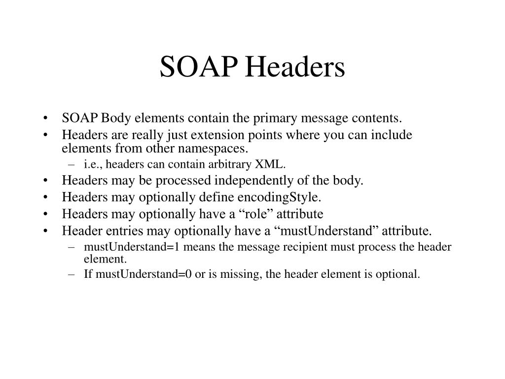 SOAP Headers
