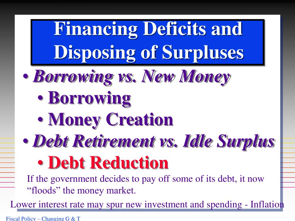 Financing Deficits and
