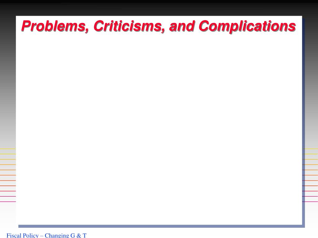 Problems, Criticisms, and Complications