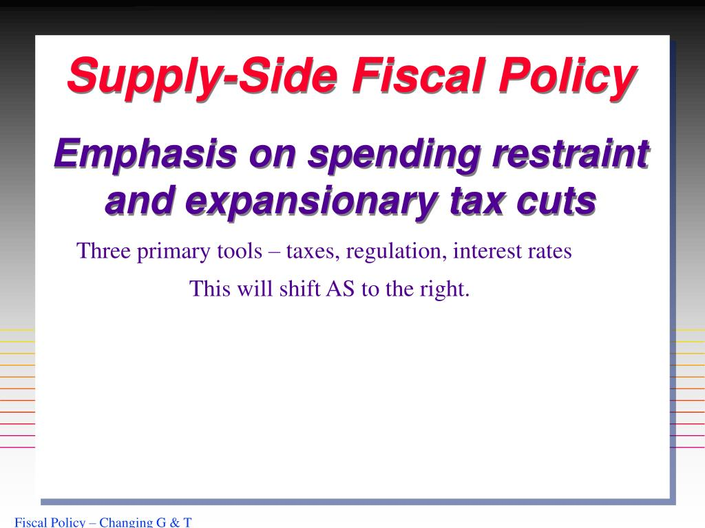 Supply-Side Fiscal Policy