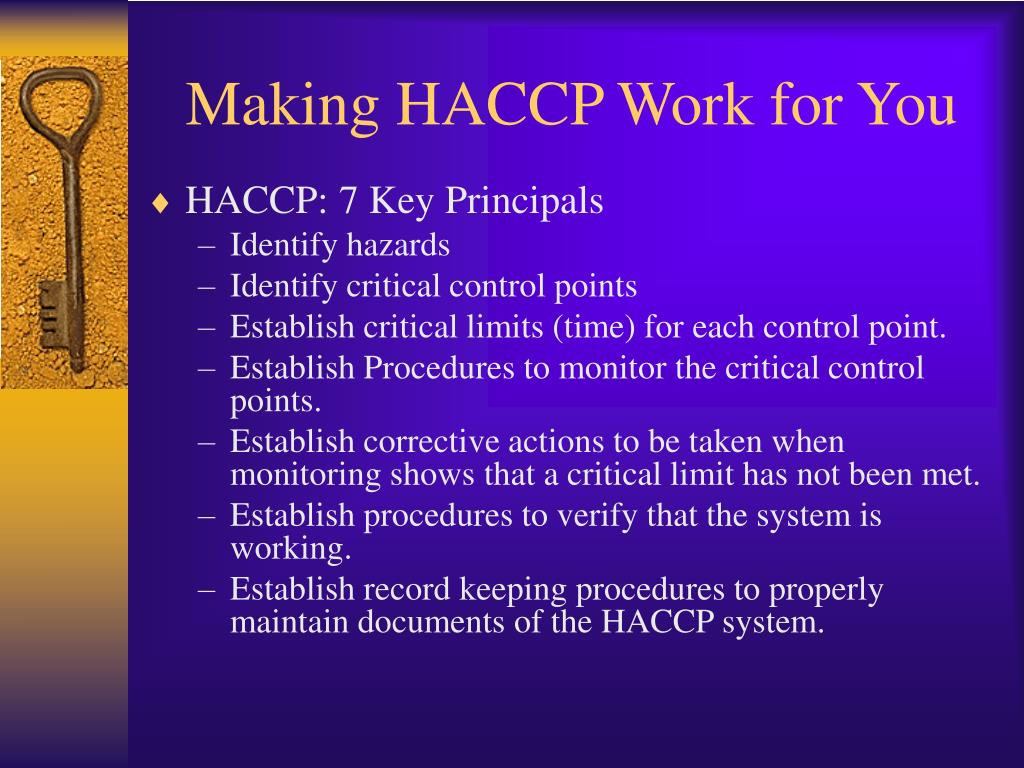 Making HACCP Work for You