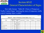 section 6f 02 general characteristics of signs