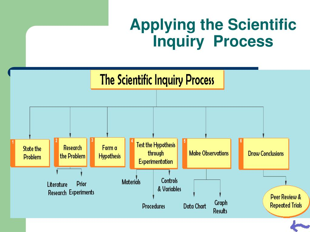 Applying the Scientific Inquiry  Process