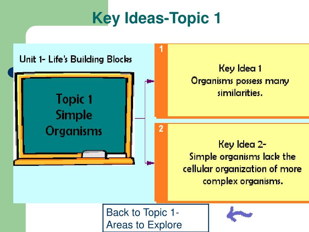 Key Ideas-Topic 1