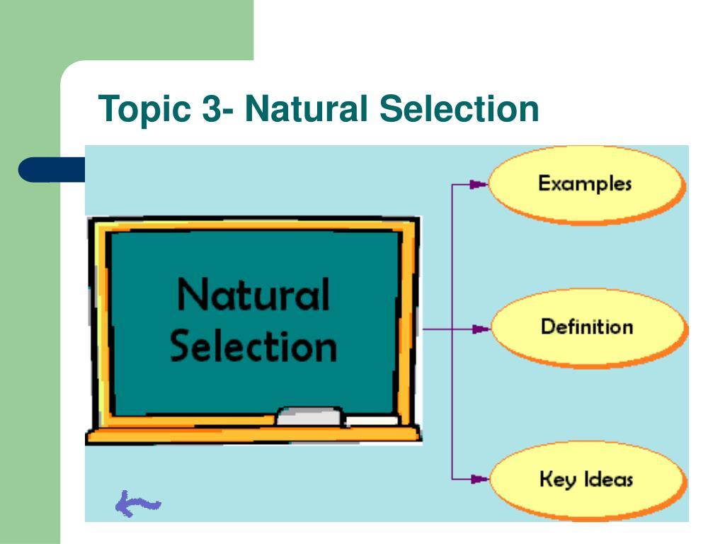 Topic 3- Natural Selection