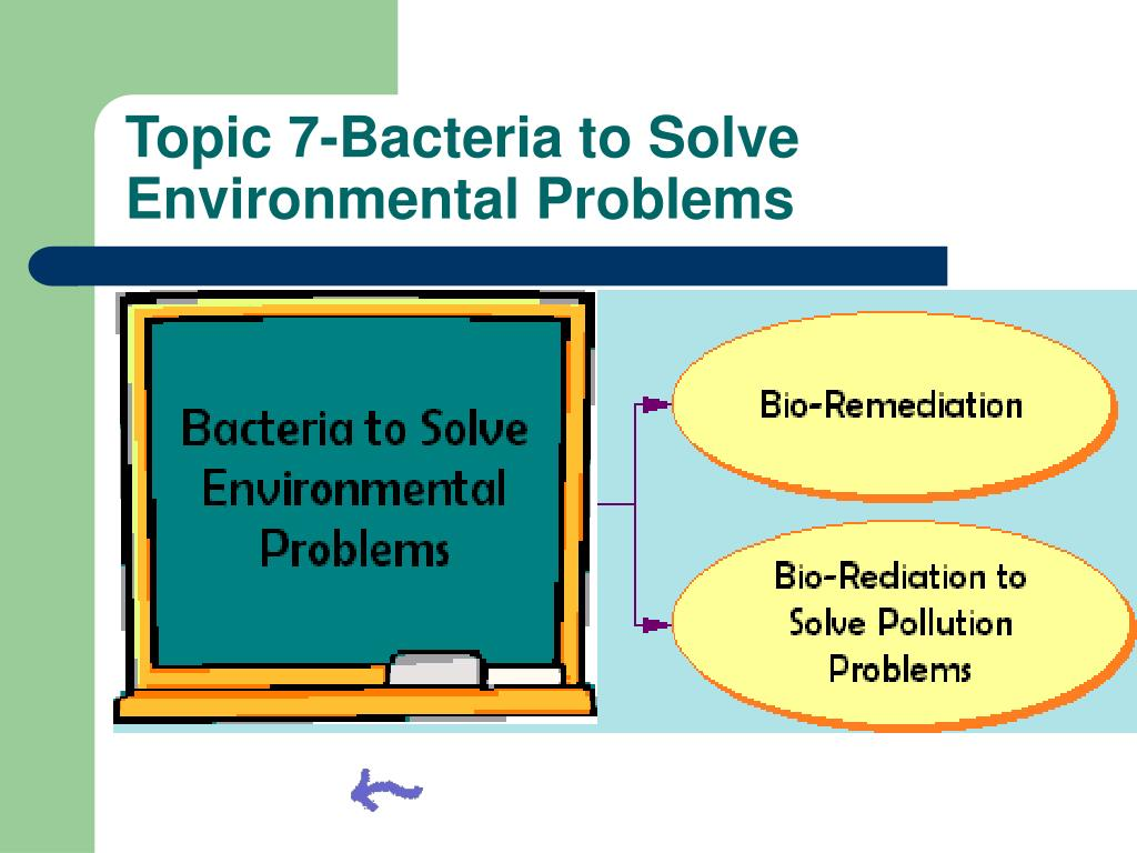 Topic 7-Bacteria to Solve Environmental Problems