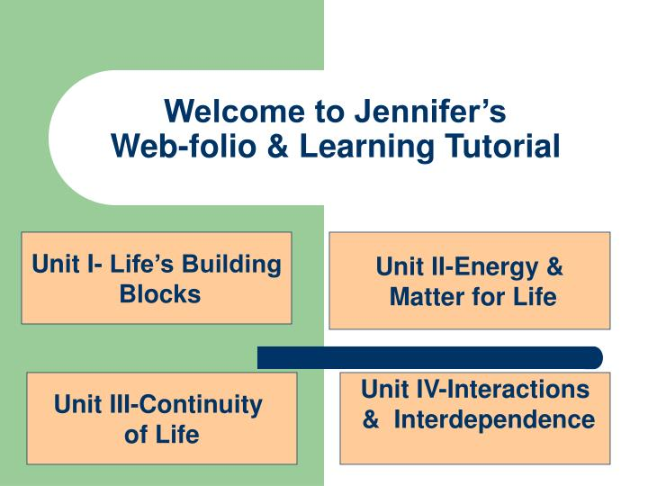 Welcome to jennifer s web folio learning tutorial