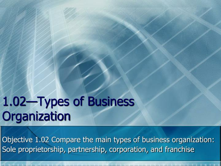 1 02 types of business organization