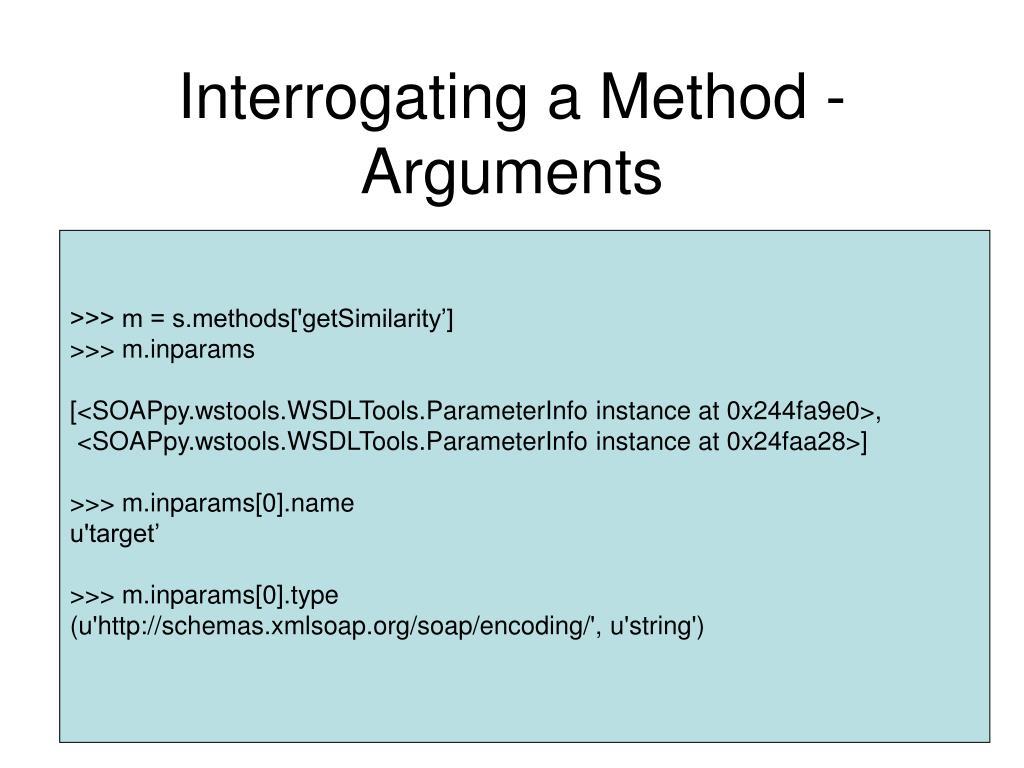 Interrogating a Method - Arguments