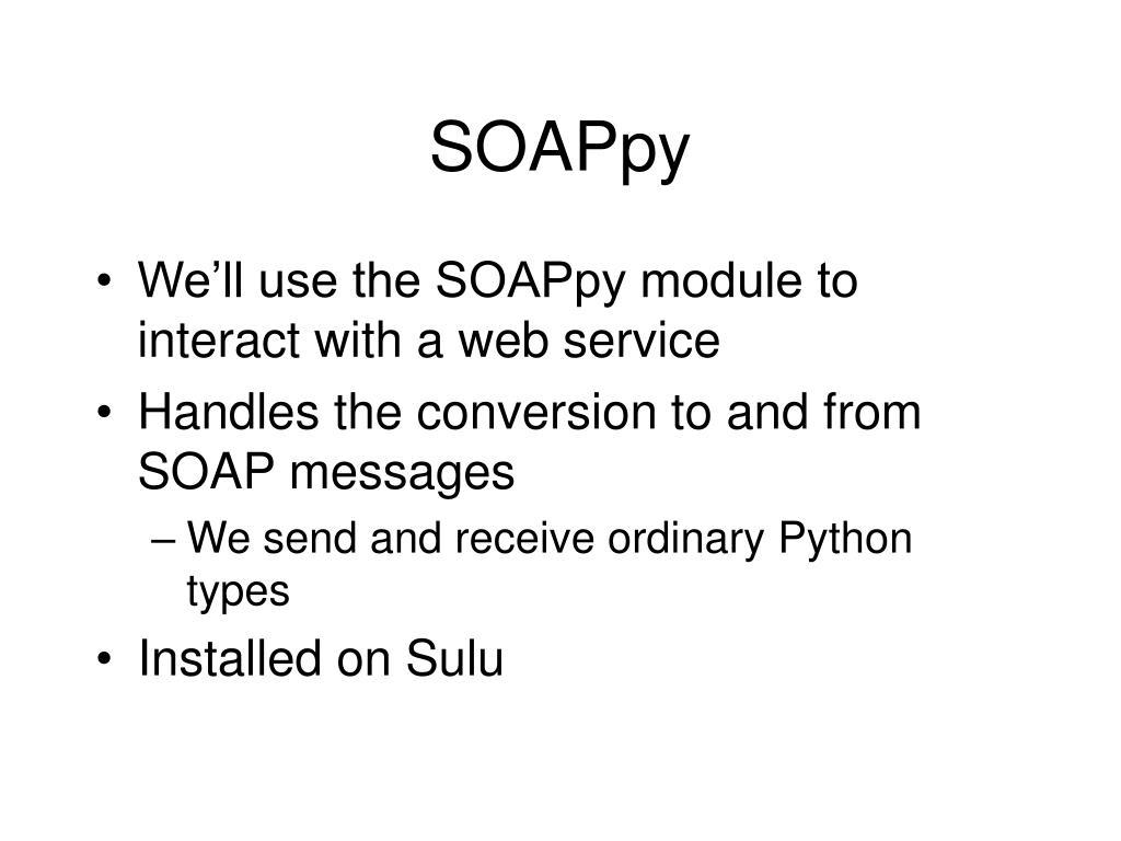 SOAPpy