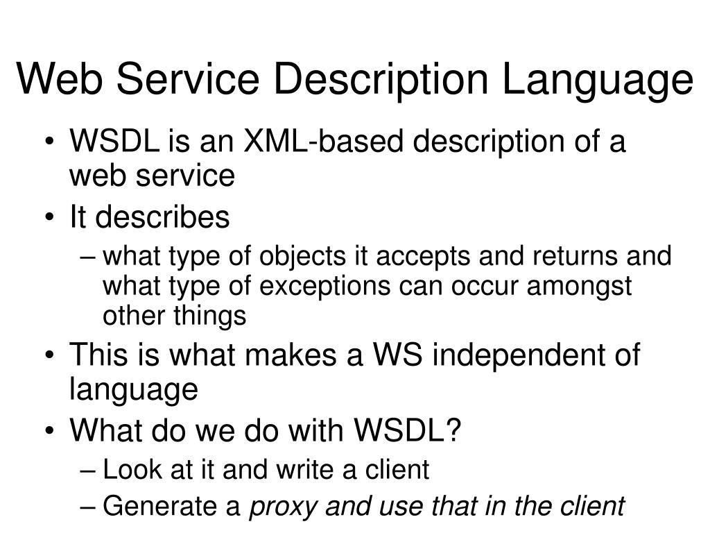 Web Service Description Language