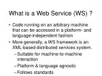 what is a web service ws
