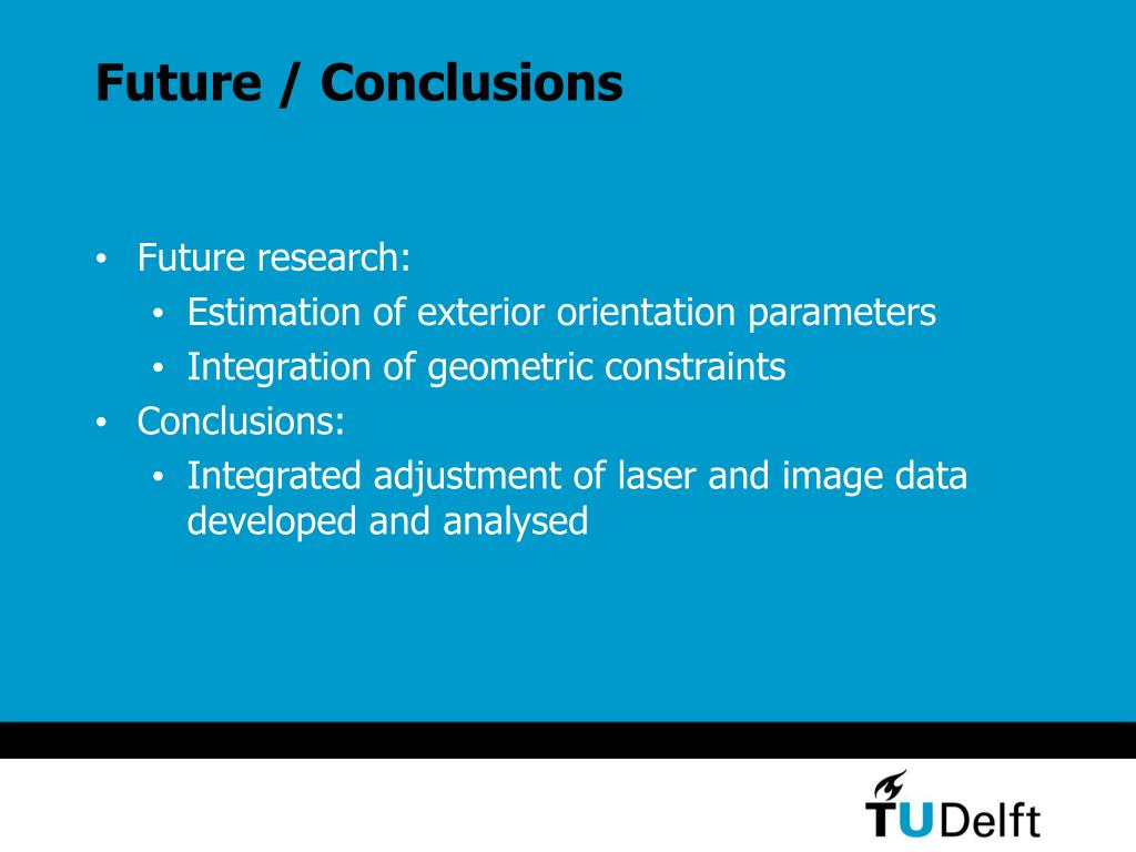 Future / Conclusions