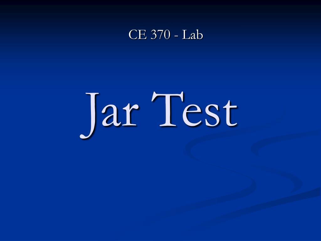 Jar Test