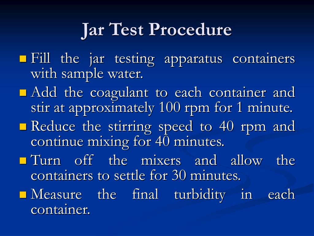 Jar Test Procedure