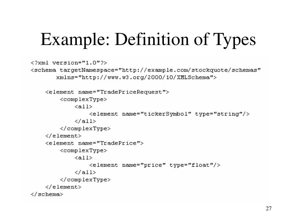 Example: Definition of Types