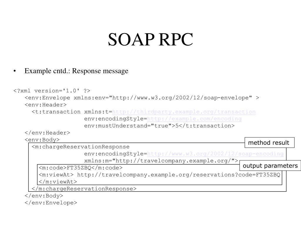 SOAP RPC