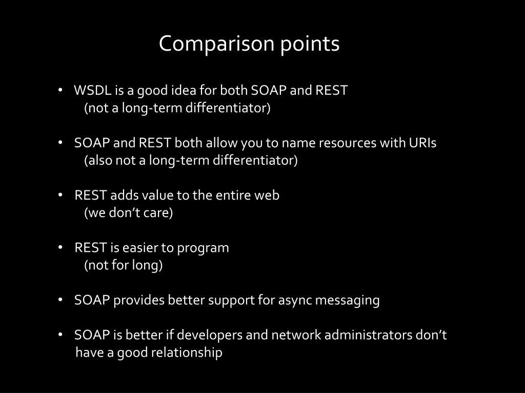Comparison points
