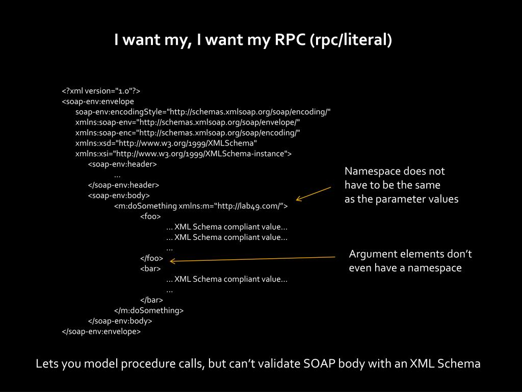 I want my, I want my RPC (rpc/literal)