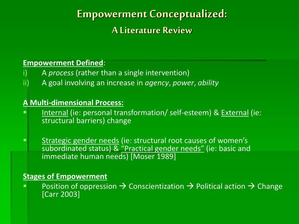 Empowerment Conceptualized: