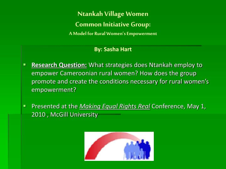 Ntankah village women common initiative group a model for rural women s empowerment by sasha hart