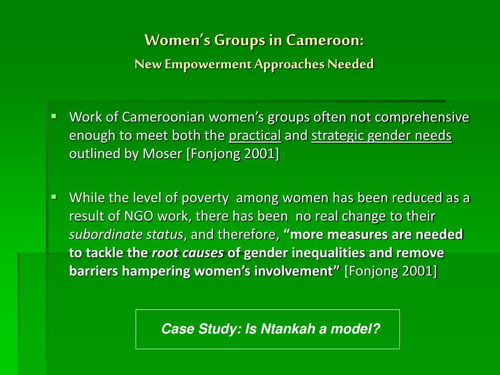 Women's Groups in Cameroon: