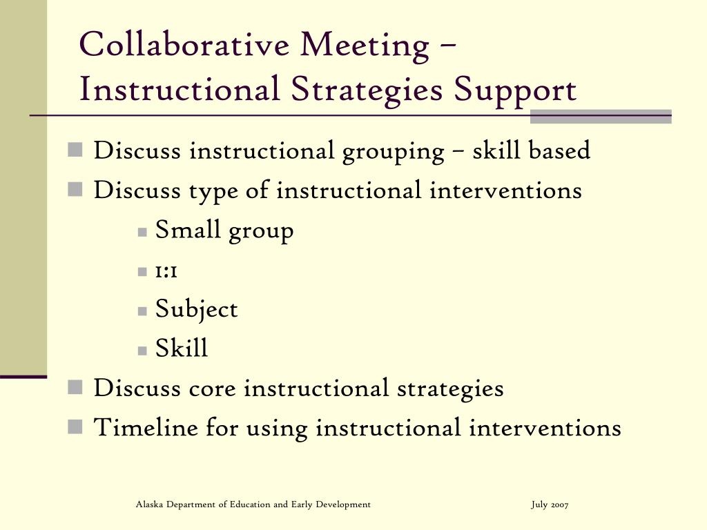 Collaborative Meeting –