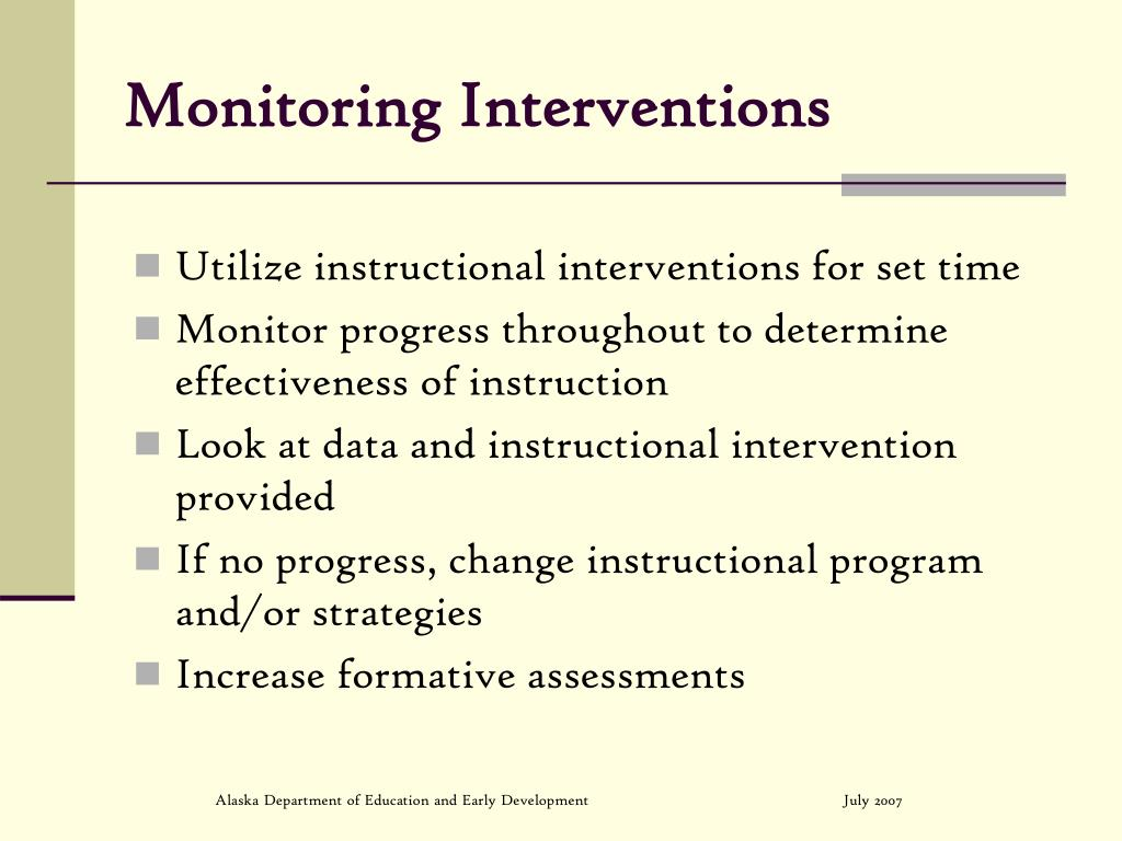 Monitoring Interventions