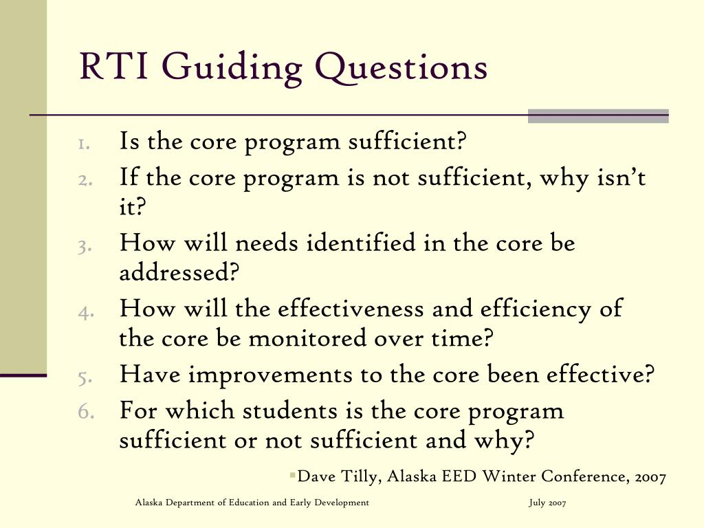 RTI Guiding Questions