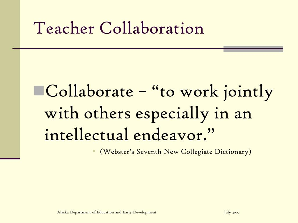Teacher Collaboration