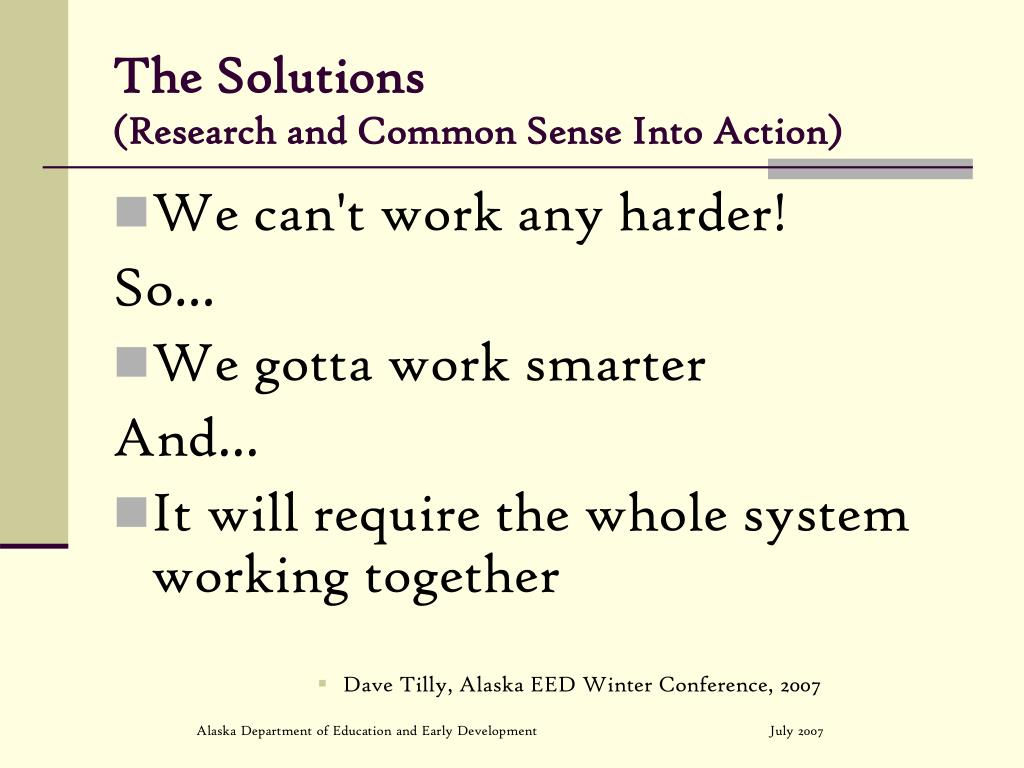 The Solutions