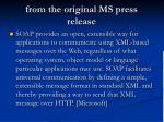 from the original ms press release