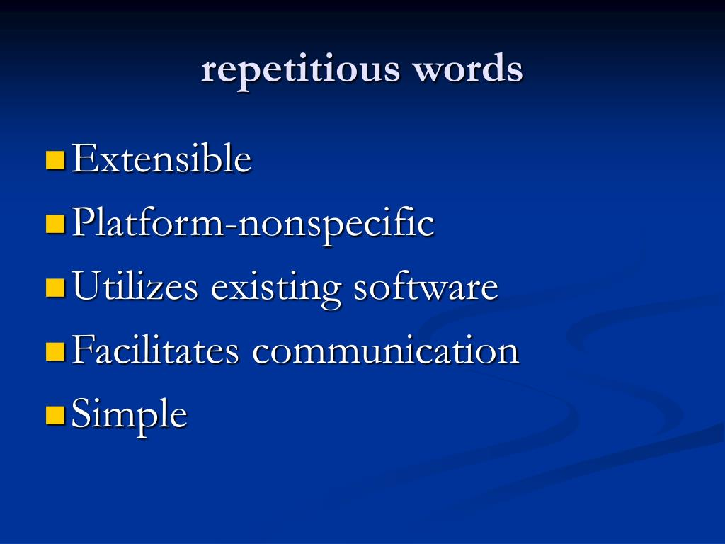 repetitious words