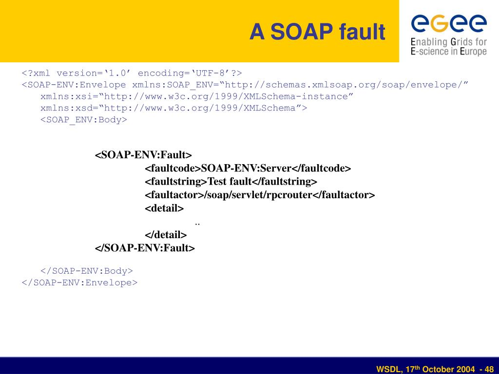 A SOAP fault