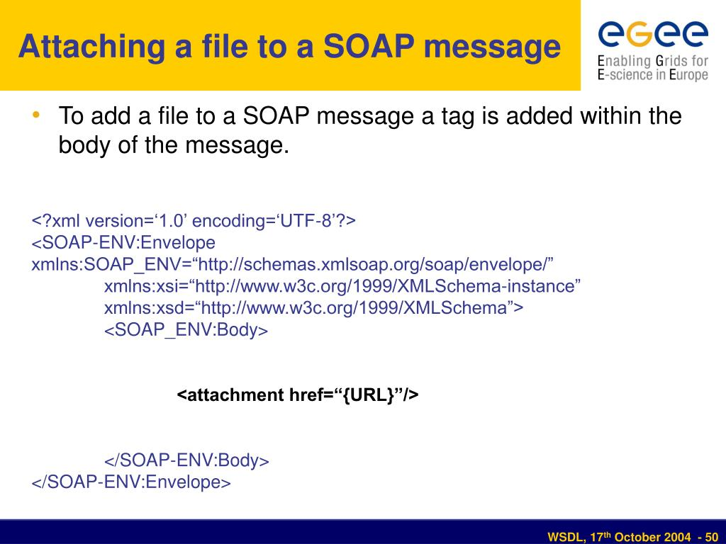 Attaching a file to a SOAP message