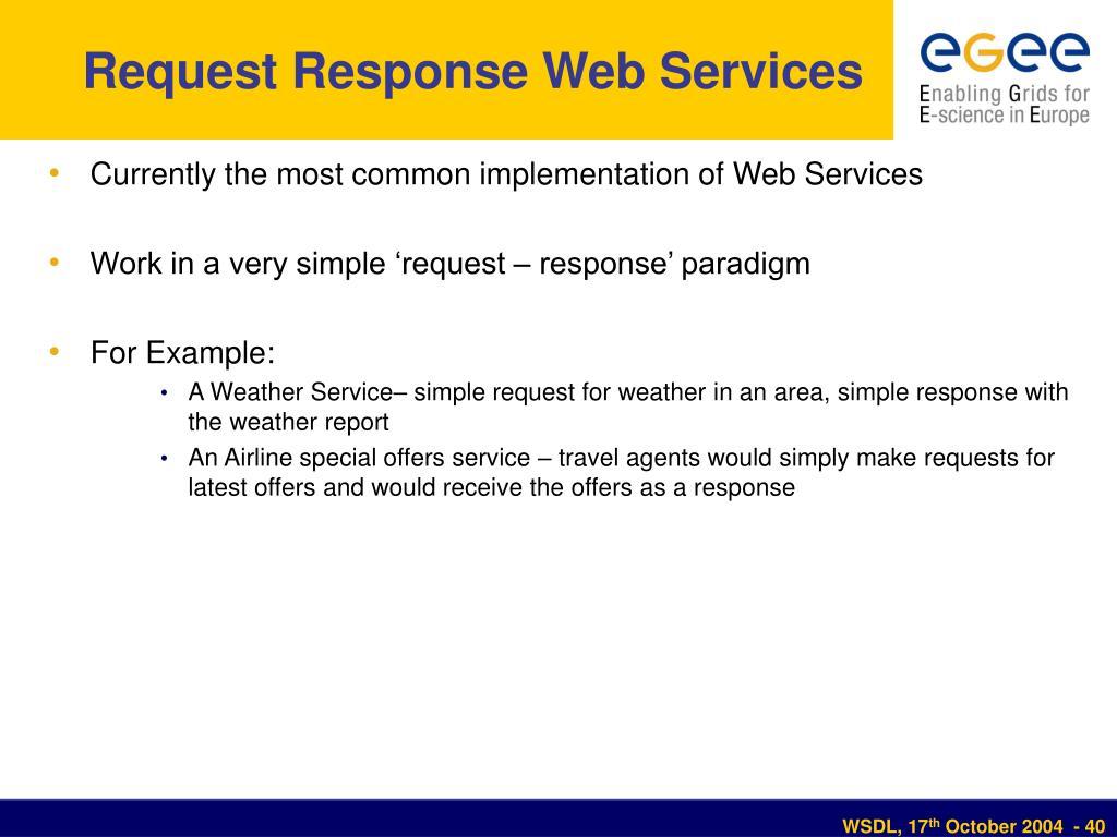 Request Response Web Services