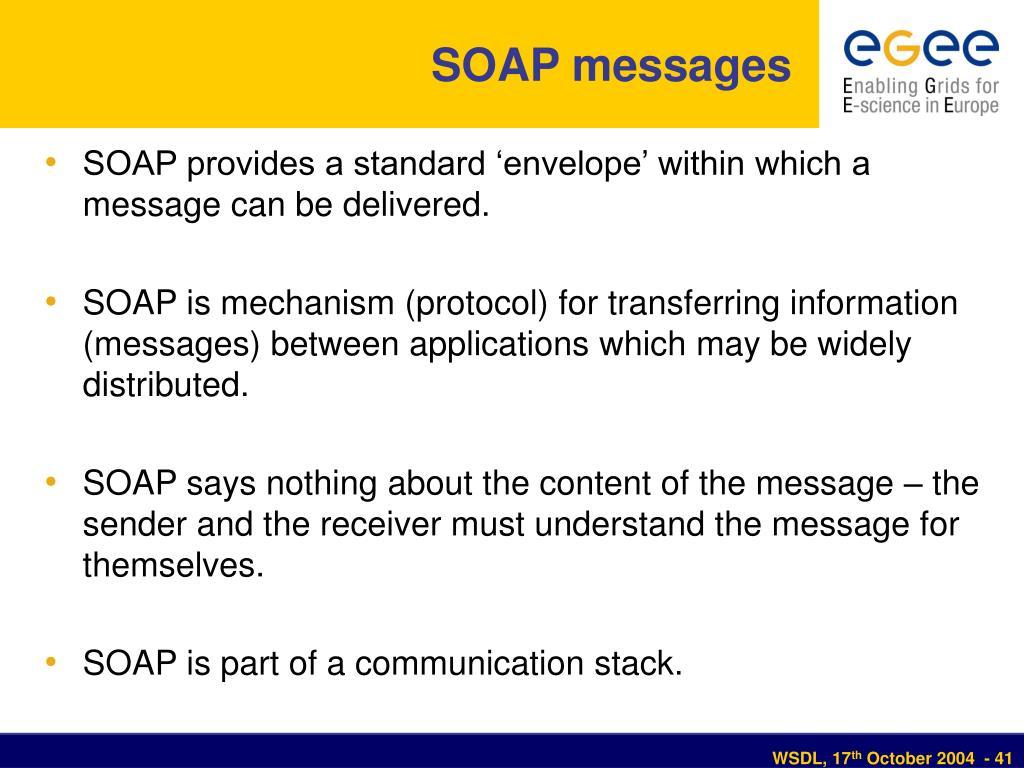 SOAP messages