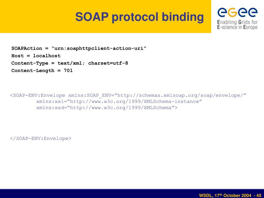 SOAP protocol binding