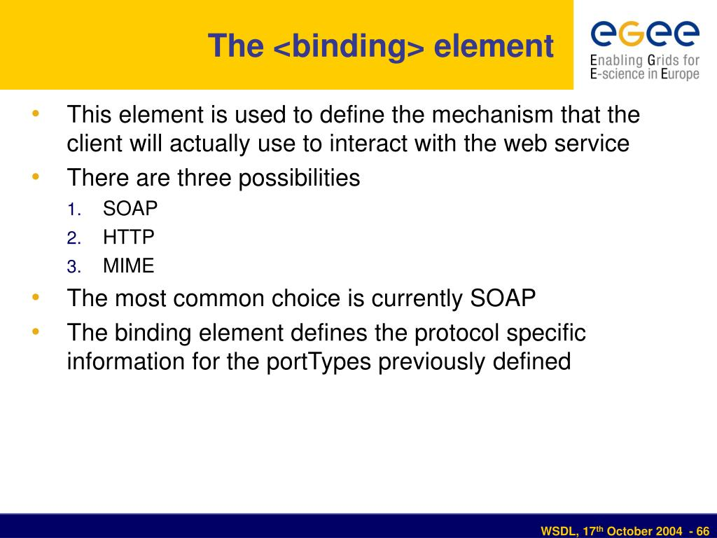 The <binding> element